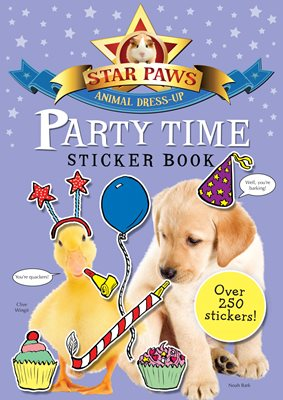 Book cover for Party Time Sticker Book: Star Paws